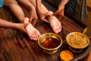 Massage des pieds Ayurveda